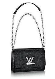 Authentic Louis Vuitton Epi Leather Twist MM Handbag Article: M50282 Noir Made in France
