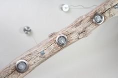 Ceiling Lamp driftwood by RivieraWood on Etsy Lamp, Wood Deco, Roof Light, Cofee Shop, Ceiling Lights Diy, Diy Lighting, Driftwood Chandelier, Ceiling Lamp, Wood Lamps