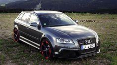 Audi Daytona Grey - Cars and motor Audi Rs3, Audi Sportback, Allroad Audi, Sexy Cars, Hot Cars, Audi Wagon, A3 8p, Automobile, Audi Quattro