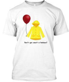 Red Balloon Horror Halloween T Shirt White T-Shirt Front