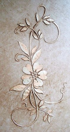 Raised Plaster Stencil Parkland Posey Stencil, Wall Stencil, Painting Stencil in Crafts, Art Supplies, Decorative & Tole Painting | eBay