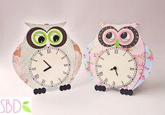 Sweet Bio design: Tutorial: Orologio da muro Gufo - DIY Owl wall clock