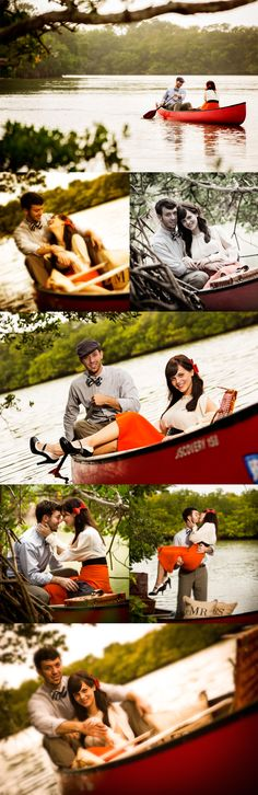 instead of couple and in canoe - want to do this with one girl and on board