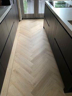 Natural Wood Flooring, Modern Flooring, Wood Floor Design, Double Storey House, Herringbone Wood Floor, White Oak Floors, Engineered Wood Floors, Home Upgrades, Living Room Flooring