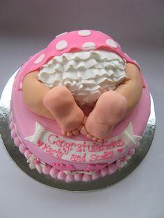 baby bottom cake tutorial