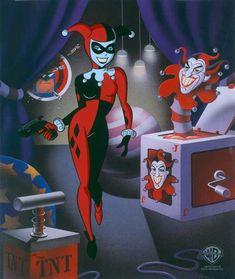 Classic Harley Quinn Batman Animated Series Warners Limited Ed Animation cel of 500 by CharlesScottGallery on Etsy Harley Batman, Joker And Harley Quinn, Joker Batman, Gotham Batman, Harley Quinn Cosplay, Batman Art, Spiderman, Bruce Timm, Animation Cel