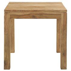 Tavolo per sala da pranzo in massello di legno di sheesham L 80 cm