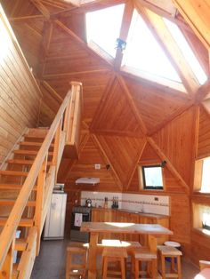 Апарт-отель Karü Купола del Fuy, Neltume, отзывы - Booking.com Monolithic Dome Homes, Geodesic Dome Homes, Dream Home Design, House Design, Yurt Living, Dome Structure, Dome House, Round House, Remodeled Campers