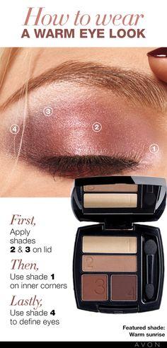 How to wear a warm eye look
