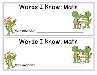 Bookish Ways in Math and Science: Monday Freebies - Vocabulary Toolkit