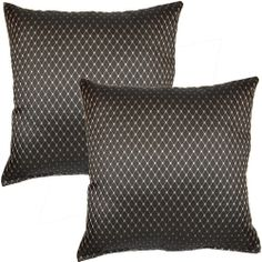 Kent Shadow 17-inch Throw Pillows (Set of 2) | Overstock.com Shopping - Great Deals on Throw Pillows