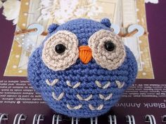 crochet owl...want to make this into a pin cushion
