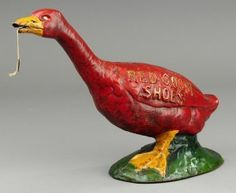 Cast-iron Red Goose Shoes string holder♥ I have a ceramic Dutch-girl's head that hangs on the wall :)