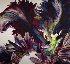 'Black Parrot Tulip' Watercolour by Rosie Sanders.
