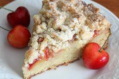 Cherry Marzipan Streusel Cake - The Daring Gourmet