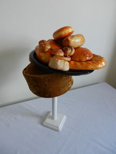 Raymond Hudd pillbox hat with rolls; Let Them Eat  Cake series