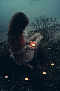 """For all the family members she lost that year, Hailey Bailey lights a candle and sets them by the water, hopefully to burn the burning memories away."" -Brenna"