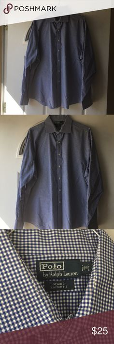 Polo by Ralph Lauren shirt This Polo Ralph Lauren button down is in excellent condition. Size 18 36/37 Polo by Ralph Lauren Shirts Dress Shirts