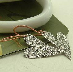 Heart Earrings On Copper Earwires - $13.99. https://www.bellechic.com/deals/c3b3e77eb0/heart-earrings-on-copper-earwires