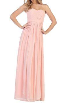 Affordable Long Chiffon Strapless Bridesmaid Dress Lavender, Sage, Blush
