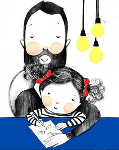 Pinzellades al món Art And Illustration, Cartoon Girl Images, Cartoon Art, Doodles Bonitos, Fathers Day Art, Family Drawing, Mother Art, Free Hand Drawing, Doll Painting