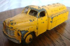 dinky yellow toy truck, etsy
