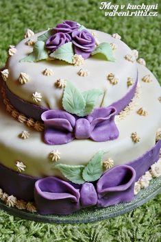 Skoro svatební dort... - Meg v kuchyni Red Velvet, Purple, Cake, Desserts, Color, Tailgate Desserts, Deserts, Kuchen, Colour