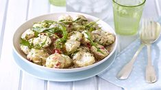 WARM POTATO AND ROCKET SALAD - This potato salad is great for outdoor entertaining or as a lunchtime treat.