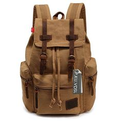 d91c6c2220 Fashion Men s Backpack Canvas Bag Fashion Men s Backpack Leisure Retro  Canvas Bag Women Backpacks For Teenage Girls School Bag