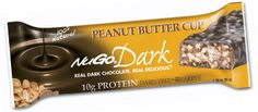 NuGo Dark Peanut Butter Cup Protein Bar - The irresistible combination of REAL Dark Chocolate and creamy peanut butter. $19 for 1 box of 12 bars #Vegan #Dairyfree #Kosher Parve