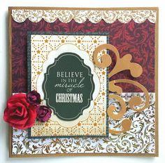 Kaisercraft : Holy Night Collection : Christmas card by Amanda Baldwin