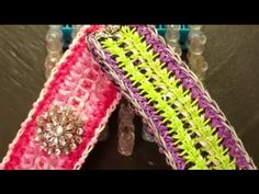 Hi and Thank you so much for visiting. Mounds is a original 7 pinbar design. This design was made for Breast Cancer awareness. If you make one please remembe. Monster Tail, Rainbow Loom Tutorials, Rainbow Loom Bracelets, Loom Weaving, Breast Cancer Awareness, Bands, Patterns, Youtube, Projects