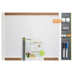 "Ubrands Pin it Cork Frame Magnetic Dry Erase Board - 16"" x 20"" : Target"