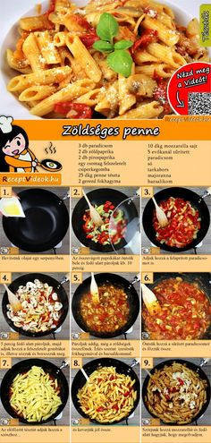 Vegetable Penne recipe with video - recipe ideas / simple recipes - Nudelrezepte - Salad Recipes Healthy