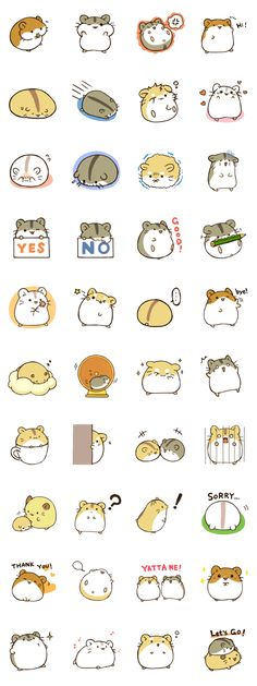 "This stamp name is ""hamstamp"".Let's enjoy LINE life with  round hamsters."