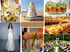 orange spring weddings are another fav ours