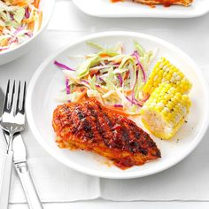 Spicy Barbecued Chicken Recipe -This zesty chicken is great served with basil-buttered grilled corn on the cob and fresh coleslaw. —Rita A. Wintrode, Corryton, Tennessee