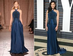Olivia Munn In Zac Posen – 2015 Vanity Fair Oscar Party