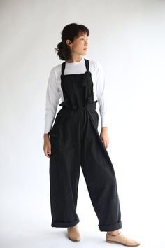 7f71f7504788 Vintage Overdye Black Tie Overalls