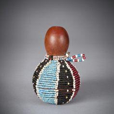 African Beads, African Art, Xhosa, Gourd Art, Zulu, Ethnic Jewelry, Gourds, Fertility, Red Black