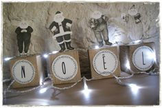 DIY Christmas Recycle: A decoration with pallet cubes . and Santa Claus - The little decorations by Lolo - noël - noel Lolo, Cubes, Noel Christmas, Diy Weihnachten, Santa, Halloween, Recherche Google, Christmas Parties, Advent Calendar