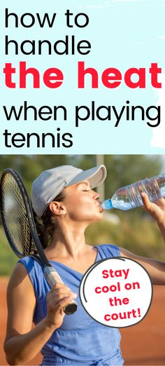 If you are playing tennis outside this summer you will want to make sure to stay cool.  Find simple ways to keep yourself cool so that you will have energy at your tennis practice or match. Tennis Bag, Tennis Match, Tennis Tips, Tennis Clothes, Play Tennis, Stay Cool, Keep Your Cool, Best Sunscreens, Hot And Humid