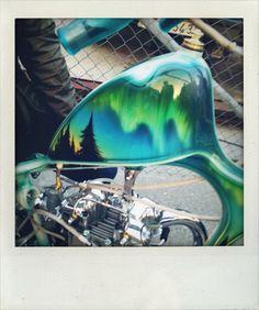 Flake's Triupmh Chopper details (Paint by Jude of Homegrown Choppers) @ Norrtälje Bike Show 2014. © Viivi Laine