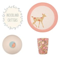 Hello Charlie - Love Mae Bamboo Dinner Set - Woodland Critters, $31.95 (http://www.hellocharlie.com.au/love-mae-bamboo-dinner-set-woodland-critters/)