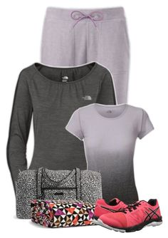 """""""Untitled #14065"""" by nanette-253 ❤ liked on Polyvore featuring The North Face, Vera Bradley, Asics, women's clothing, women's fashion, women, female, woman, misses and juniors"""