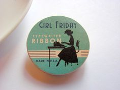 Image result for girl friday typewriter tin