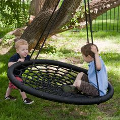 Swing and Spin Swing - Tire swings are tired. The new swingin' thing is the Swing and Spin Swing, a durable, innovative alternative to tire swings that offers safety and sub...