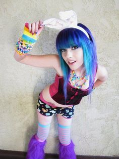 If you don't love girls with furry boots, colorful clothing and hair, and arms full of kandi then there is truly something wrong with you. Here's a collection of the hottest and cutest ravers online. Please enjoy Rave Girls, Edm Girls, Rave Festival, Festival Fashion, Rockabilly, Leda Monster Bunny, Rave Gear, Leda Muir, Scene Kids