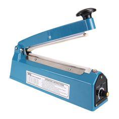 "8"" 110V 300W Manual Plastic Film Sealer Heat Impulse Sealer Poly Bag Plastic Film Sealing Machine for Home Kitchen #Affiliate"