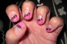 Thulian In Wonderland: Manicure for short nails